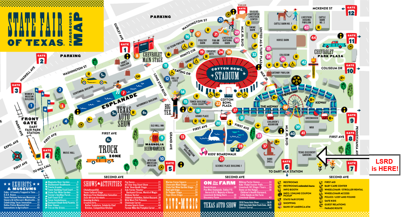 Lone Star Rattlesnake Days 2019 Tx State Fair Map Newrpt
